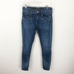 Express Denim Leggings Mid Rise Blue Medium Wash